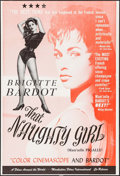 "Movie Posters:Exploitation, That Naughty Girl (Films Around the World, 1956). Trimmed One Sheet(26.75"" X 39.5""). Exploitation.. ..."