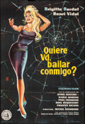 """Movie Posters:Foreign, Come Dance with Me! (Selecciones Capitolio, 1959). Full-Bleed First Release Spanish One Sheet (26.75"""" X 39"""") Artwork by Ale...."""