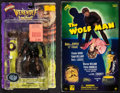 "Movie Posters:Horror, The Wolf Man Action Figure Lot (Sideshow Toy, 2000/2001). ActionFigures in Original Packaging (2) (8.5"" X 13.5"" X 3"" & 9"" X...(Total: 2 Items)"