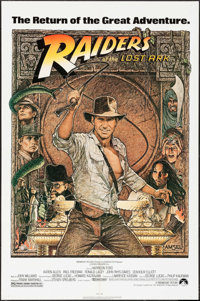 "Raiders of the Lost Ark (Paramount, R-1982). One Sheet (27"" X 41"") Richard Amsel Artwork. Adventure"