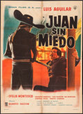 """Movie Posters:Foreign, Juan sin Miedo & Other Lot (Diana Films, 1961). Mexican One Sheets (2) (27"""" X 37""""). Foreign.. ... (Total: 2 Items)"""
