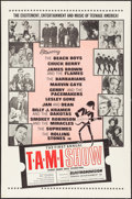 "Movie Posters:Rock and Roll, The T.A.M.I. Show (American International, 1964). Folded, Very Fine-. One Sheet (27"" X 41""). Rock and Roll.. ..."