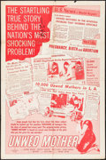 """Movie Posters:Exploitation, Unwed Mother (Allied Artists, 1958). One Sheet (26.5"""" X 40""""). Exploitation.. ..."""