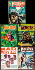 "Movie Posters:Horror, Quasimodo's Monster Magazine & Others Lot (Mayfair, 1975/1976).Magazines (5) (Multiple Pages, Approximately 8.25"" X 11""). H...(Total: 5 Items)"