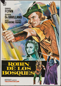 """The Adventures of Robin Hood & Others Lot (Warner Brothers, R-1988). Spanish One Sheets (3) (27.5"""" X 39"""" &..."""