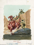 "Original Comic Art:Covers, Western Publishing Artist - Turok, Son of Stone #88 Cover OriginalArt (Gold Key, 1974). Turok must survive ""the Honker pit ..."