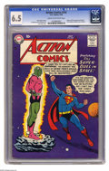 Silver Age (1956-1969):Superhero, Action Comics #242 (DC, 1958) CGC FN+ 6.5 Cream to off-white pages. Two major first appearances take place in this comic! It...