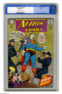 Action Comics #352 Boston pedigree (DC, 1967) CGC NM+ 9.6 Off-white to white pages. Curt Swan cover. Wayne Boring art. O...