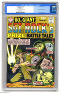 Silver Age (1956-1969):War, 80 Page Giant #7 Sgt. Rock's Prize Battle Tales (DC, 1965) CGC VF/NM 9.0 Off-white pages. Joe Kubert cover and art. Overstre...