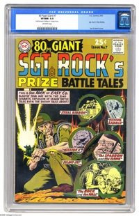 80 Page Giant #7 Sgt. Rock's Prize Battle Tales (DC, 1965) CGC VF/NM 9.0 Off-white pages. Joe Kubert cover and art. Over...