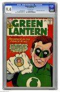 Silver Age (1956-1969):Superhero, Green Lantern #10 (DC, 1962) CGC NM 9.4 Off-white pages. The originof Green Lantern's oath is revealed in this issue. And h...
