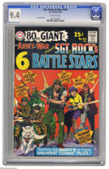 Silver Age (1956-1969):War, Our Army at War #164 (DC, 1966) CGC NM 9.4 Off-white pages. This square bound issue, aka 80 Page Giant G-19, has all of ...