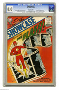 Silver Age (1956-1969):Superhero, Showcase #4 The Flash (DC, 1956) CGC VF 8.0 Off-white pages. This is the first comic of the Silver Age according to many, an...