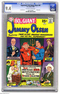 Superman's Pal Jimmy Olsen #95 (DC, 1966) CGC NM 9.4 Off-white to white pages. Aka 80-Page Giant G-25. Curt Swan cover a...