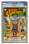 Silver Age (1956-1969):Superhero, Superman Annual #8 (DC, 1964) CGC VF/NM 9.0 Off-white to white pages. All-origins issue. Square bound issue, all reprints. C...