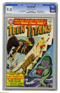 Silver Age (1956-1969):Superhero, Teen Titans #1 (DC, 1966) CGC VF/NM 9.0 Off-white to white pages. After a couple of tryout appearances in The Brave and th...