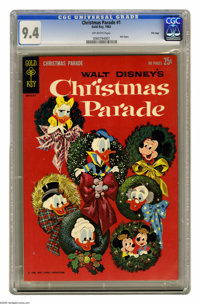 Christmas Parade #1 File Copy (Gold Key, 1962) CGC NM 9.4 Off-white pages. Here's a sharp-as-they-come file copy of this...