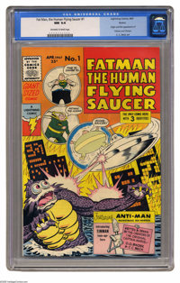 Fatman, the Human Flying Saucer #1 Boston pedigree (Lightning Comics, 1967) CGC NM 9.4 Off-white to white pages. C. C. B...
