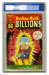 Richie Rich Billions #1 (Harvey, 1974) CGC NM 9.4 Off-white to white pages. Overstreet 2005 NM- 9.2 value = $45. CGC cen...
