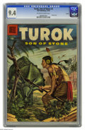Silver Age (1956-1969):Adventure, Turok #3 Circle 8 pedigree (Dell, 1956) CGC NM 9.4 Off-white to white pages. This is the first issue of the title, with Turo...