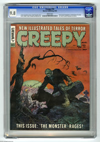 Creepy #10 (Warren, 1966) CGC NM/MT 9.8 White pages. Cover by Frank Frazetta, and interior art by Steve Ditko, Gene Cola...