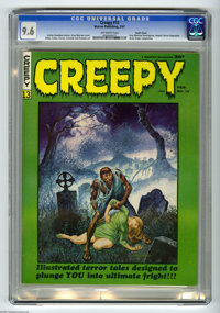 Creepy #13 Pacific Coast pedigree (Warren, 1967) CGC NM+ 9.6 Off-white pages. Features a cover and frontispiece by Gray...