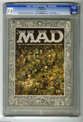 Magazines:Mad, Mad #27 (EC, 1956) CGC VF- 7.5 Cream to off-white pages. AlJaffee's first issue as a staff artist. Cover by Jack Davis; int...