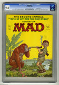"Magazines:Mad, Mad #102 Gaines File Copy pedigree (EC, 1966) CGC VF/NM 9.0 Off-white to white pages. This issue includes a ""National Enquir..."