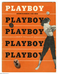 Magazines:Miscellaneous, Playboy #4 (HMH Publishing, 1954) Condition: VG+. All the firstyear issues of Playboy are quite rare, with many more collec...