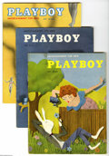 Magazines:Miscellaneous, Playboy Group (HMH Publishing, 1954) Condition: VG/FN. Here's agood way to jumpstart a collection of early Playboys: is... (8Items)