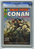 Magazines:Miscellaneous, Savage Sword of Conan #1 (Marvel, 1974) CGC NM+ 9.6 Off-whitepages. This first issue of Marvel's super-sized sword and sorc...