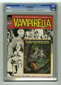 Vampirella #9 (Warren, 1970) CGC NM+ 9.6 Off-white to white pages. It's a testament to Wally Wood's skill and popularity...
