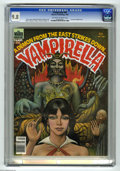 Magazines:Horror, Vampirella #86 (Warren, 1980) CGC NM/MT 9.8 Off-white to white pages. Terrance Lindall cover. Val Mayerik art. Has anti-Khom...