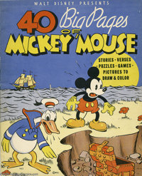 40 Big Pages of Mickey Mouse (Whitman, 1936) Condition: VG/FN. This book is extremely rare and almost never offered for...