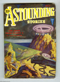 Pulps:Science Fiction, Astounding Stories July 1931 (V7#1) (Street & Smith, 1931)Condition: VG/FN. A nude man on an alien planet faces a menacing...
