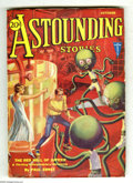 Pulps:Science Fiction, Astounding Stories Oct 1931 (V8#1) (Street & Smith, 1931)Condition: FN+. Glossy and colorful cover, with a human couplebei...