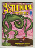 Pulps:Science Fiction, Astounding Stories Sept 1932 (V11#1) (Street & Smith, 1932)Condition: FN. Hans Wessolowski cover art features a weird green...