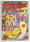 Pulps:Science Fiction, Astounding Stories Nov 1932 (V11#2) (Street & Smith, 1932)Condition: FN-. Hans Wessolowski's cover art looks great on this...