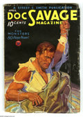 Pulps:Hero, Doc Savage Apr 1934 (V3#2) (Street & Smith, 1934) Condition: VG/FN. Classic cover art, painted by Walter Baumhofer. Includes...