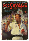 """Pulps:Hero, Doc Savage June 1934 (V3#4) (Street & Smith, 1934) Condition: VG/FN. Cover art by Walter Baumhofer. Includes the story """"The ..."""