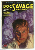 Pulps:Hero, Doc Savage July 1934 (V3#5) (Street & Smith, 1934) Condition: FN. The painted cover art by Walter Baumhofer has a classic fe...