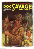 Pulps:Hero, Doc Savage Aug 1934 (V3#6) (Street & Smith, 1934) Condition: VG/FN. Cover art by Walter Baumhofer features Doc encountering ...