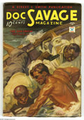 Pulps:Hero, Doc Savage Feb 1935 (V4#6) (Street & Smith, 1935) Condition: VF-. Stunning condition! Cover art by accomplished painter Walt...