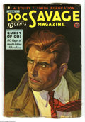 "Pulps:Hero, Doc Savage July 1935 (V5#5) (Street & Smith, 1935) Condition: FN-. Cover art by Walter Baumhofer. Includes the story ""Quest ..."
