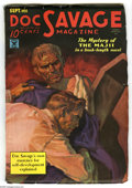 Pulps:Hero, Doc Savage Sept 1935 (V6#1) (Street & Smith, 1935) Condition: FN. Nice cover art, painted by Walter Baumhofer. The featured ...