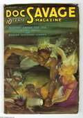 Pulps:Hero, Doc Savage Feb 1936 (V6#6) (Street & Smith, 1936) Condition:VG+. Underwater cover painted by Walter Baumhofer. Includes the...
