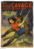 Pulps:Hero, Doc Savage Mar 1936 (V7#1) (Street & Smith, 1936) Condition: VG/FN. Painted cover art by Walter Baumhofer, featuring Doc Sav...