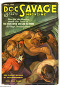 Pulps:Hero, Doc Savage Apr 1936 (V7#2) (Street & Smith, 1936) Condition: VG+. Doc helps an injured man and a pretty redhead on this cove...