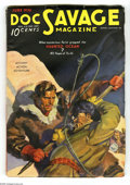 Pulps:Hero, Doc Savage June 1936 (V7#4) (Street & Smith, 1936) Condition: VG/FN. Walter Baumhofer provides this painted cover of Doc fig...