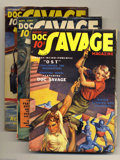 Pulps:Adventure, Doc Savage Group (Street & Smith, 1937) Condition: Average FN+. This lot consists of the Aug 1937, Sept 1937, Oct 1937, Nov ... (5 items)
